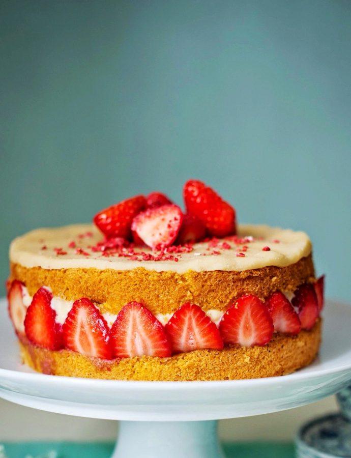 Torta s jagodama (jednostavna)